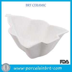 China Modern Kitchen White Ceramic Christmas Tree Salad Food Bowl