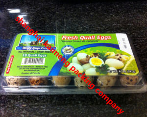 5X6 30units Plastic Egg Trays Packing with Printed Lables