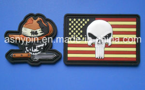 Custom 3D PVC Rubber Patch Hook & Loop Backing pictures & photos