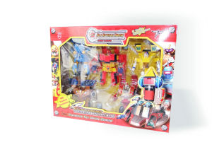 Collection of 5 Warriors Transforming Robot Toys