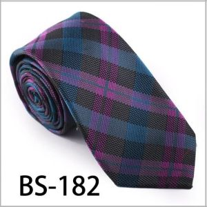 New Design Fashionable Silk/Polyester Check Tie (BS-182) pictures & photos