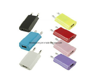 1A Colorful Euro Travel Charger for iPhone/ Samsung/ HTC