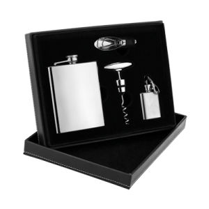 Stainless Steel Hip Flask Gift Set (QL-GS018)