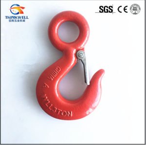 Drop Forged Carbon Steel G320 Eye Hook with Latch pictures & photos
