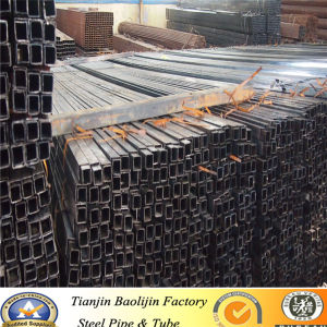 "100X100mm/4""X4"" Black Annealed Iron Square Steel Pipe pictures & photos"