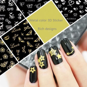 New&Hot Selling Nail 3D Sticker Metal Gold Silver Color Nail Beauty Nail Art