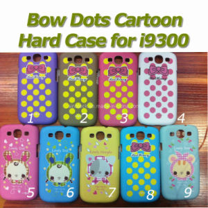 Hard Cover Bow Dots Cartoon Case for Samsung Galaxy S3 I9300