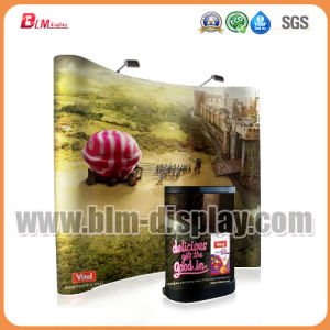 Portable Aluminum Outdoor Advertising Trade Show Exhibition Fabric Pop Pull up Banner Display Stand Background Spring Pop up Display Banner Stands