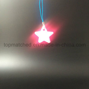 PVC Pink Star Reflector Reflective Pendant for Bag Hanger pictures & photos
