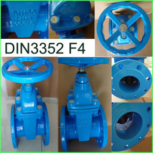 DIN Gate Valve 3352 F4 Ductile Iron Factory Supply pictures & photos