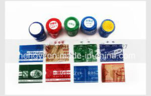 Bottle Cap Label for Bottle (PVC film in 10 colors printing) pictures & photos