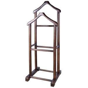 Professional! Hotel Classic Wooden Luxury Valet Stand for Clothes pictures & photos