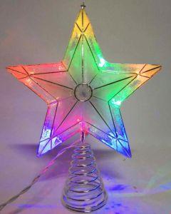 China New Amazing 5 Point Colorful Capiz Star Light Up Christmas