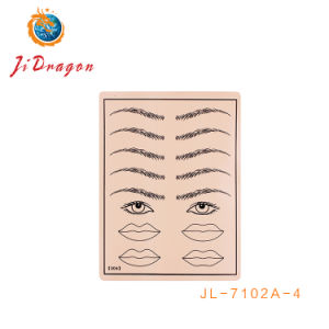 China 3D Eyebrow Tattoo Makeup Silicone Practice Eyebrow Tattoo Skin ...