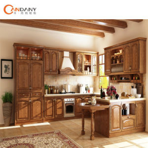 China Solid Wood Furniture Oak Cherry Walnut Maple Kitchen Cabinet