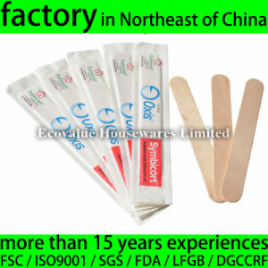 Disposable Wood Waxing Spatula Stick