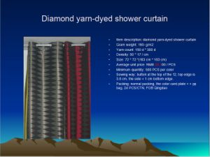 Diamond Yarn-Dyed Shower Curtain St1807 pictures & photos