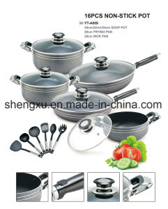 Non-Stick Ceramic Coated Aluminum Sauce Pot Energy-Saving Pot Cookware Sets Sx-A009