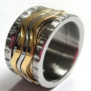 2013 Fashion Wide Stainless Steel Ring for Men (RD-JSR011)