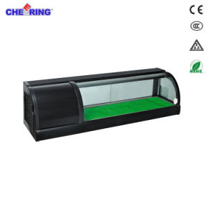 Ce Certification 1.2m1.5m1.5m2.0mdouble Layer Sushi Refrigerated Display Showcase pictures & photos
