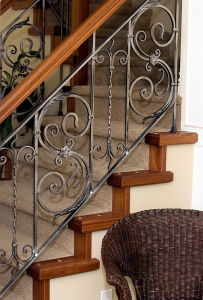 Wholesale Ornamental Outdoor Wrought Iron Stair Railing pictures & photos