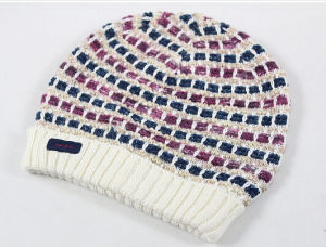 Fashion Hand Made Crochet Checked Style Knitted Knitting Hat pictures & photos