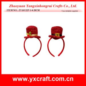 Christmas Decoration (ZY16Y227-3-4 20CM) Christmas Very Red Hat Christmas Stand pictures & photos