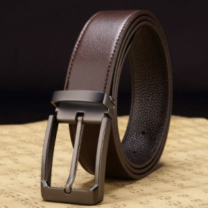 Fashion Top Grain Leather Belt Fashion Classice Vintage Pin Buckle