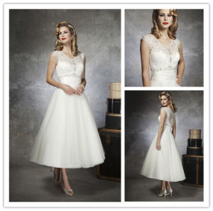 China 2014 hot sale brand name ankle length a line v neck beaded 2014 hot sale brand name ankle length a line v neck beaded short wedding junglespirit Choice Image