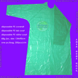 Waterproof Surgical/Medical/Hospital/Plastic/Polyethylene/Poly/PE/HDPE/LDPE/PP+PE/PP/SMS/Polypropylene Nonwoven Disposable Protective Gown, Disposable Coverall pictures & photos