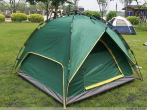 Portable 190t Polyester+Mesh Yarn Double Layer Quick Set Automatic Outdoor Tent