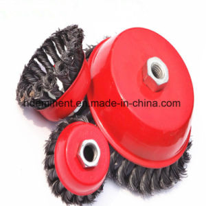 Rust Removal Cup Wire Brush Twist Style for Metalworking Cleaner
