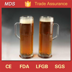 Tall Clear Glass Beer Mugs and Glasses with Handles pictures & photos