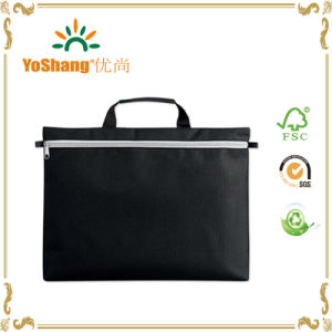 600d Polyester Zip Lock Simple Document Bag with Cutomers′ Logo pictures & photos