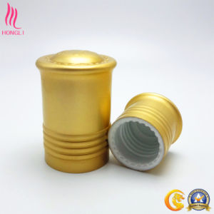 Lightcyan/Golden Aluminum Lids for Lotion Bottle pictures & photos