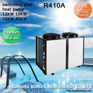 All Weather Thermostat 32deg. C for 25~256cube Meter Pool 12kw/19kw/35kw/70kw Cop4.62 Titanium Tube Heat Pump for Swimming Pool pictures & photos
