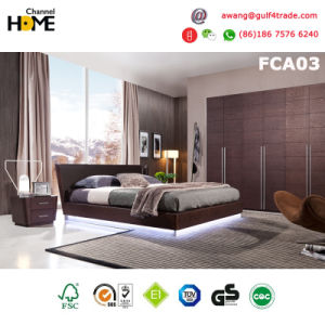 High Quality Elegant Modern Wooden Bed for Bedroom (FCA03)