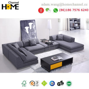Modern Home Living Room Furniture Large Size Fabric Sofa (HC-R566)
