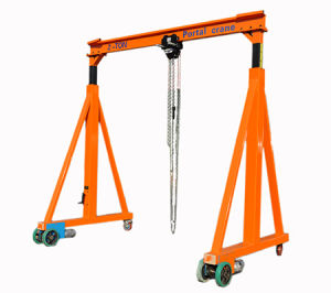 Manual Electrical Walking Gantry Crane Frame With Motor Hoist