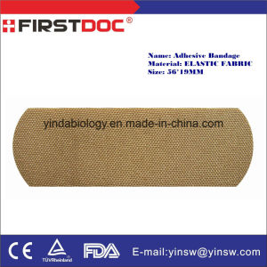 Medical Supply Adhesive Tape 56X19mm Elastic Fabric Band-Aid Comfort-Flex Adhesive Bandages-Plastic Tan Color pictures & photos