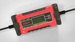1A 6V/12V LCD Display Smart Battery Charger