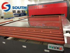 Southtech Glass Machine Flat with Passing Section and Convection System Tempering Furnace pictures & photos