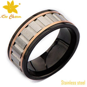Str-004 Classic Stainless Steel Royal Finger Ring Jewelry