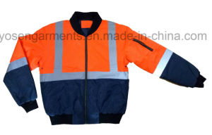 Winter Waterproof Protective Apparel Hi-Viz Reflective Safety Rain Jacket Padded Pilot Garment