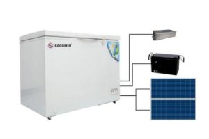 DC Power Solar Refrigerator with Solar Panel Power Charging pictures & photos
