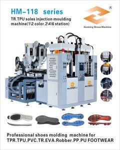 Vertical Type Tr PVC Sole Injection Moulding Machine pictures & photos