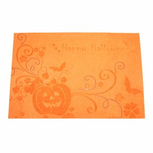 3mm & 5mm Laser 100% Polyester Placemat for Halloween Decorations