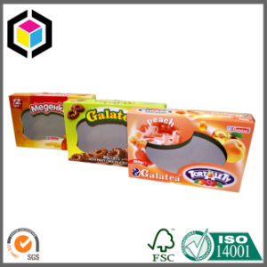 Open Window Cardboard Paper Packaging Biscuit/Cupcake/Chocolate Box