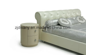 Home Bedroom Furniture Wood Leather Bed (LS-418) pictures & photos