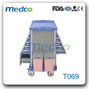 ABS Medical Treat Cart Hospital ABS Emergency Trolley for Patient pictures & photos